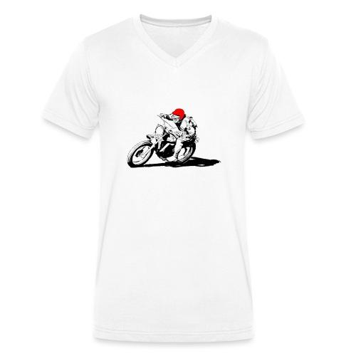 Scrambler - T-shirt ecologica da uomo con scollo a V di Stanley & Stella
