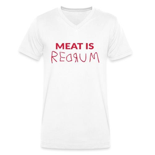Meat is redrum - Meat is Murder - Stanley & Stellan miesten luomupikeepaita