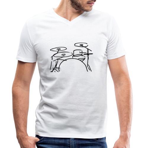 Drumset - Männer Bio-T-Shirt mit V-Ausschnitt von Stanley & Stella