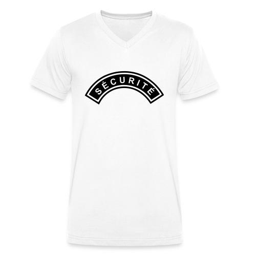 Ecusson Sécurité demilune - T-shirt bio col V Stanley & Stella Homme