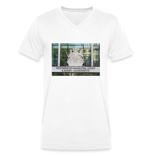 Court of Contempt - Men's Organic V-Neck T-Shirt by Stanley & Stella