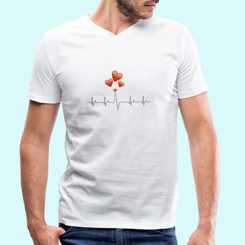 electrocardiogramme - T-shirt bio col V Stanley & Stella Homme