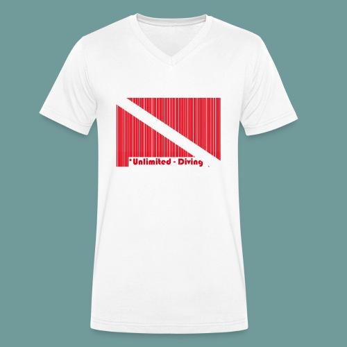 flag_barre_ud - T-shirt bio col V Stanley & Stella Homme