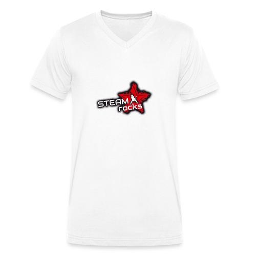 SteamRocks RGB WeisseSchrift aufTranzparenz 1000px - Männer Bio-T-Shirt mit V-Ausschnitt von Stanley & Stella