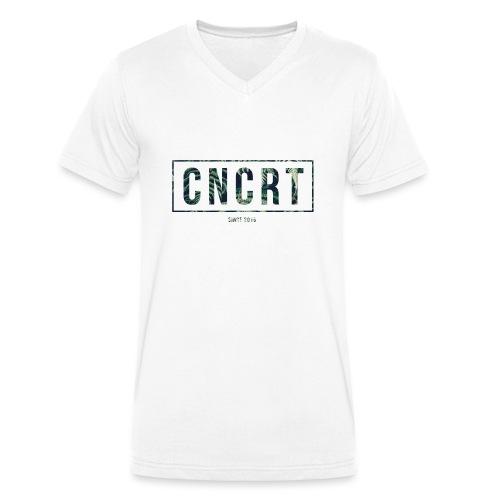 CNCRT white men sweater (Plant Print) - Mannen bio T-shirt met V-hals van Stanley & Stella
