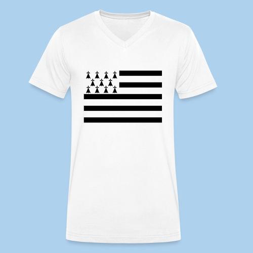 drapeau breton - T-shirt bio col V Stanley & Stella Homme