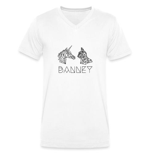 Banney Hoddie Miezehorn - Männer Bio-T-Shirt mit V-Ausschnitt von Stanley & Stella
