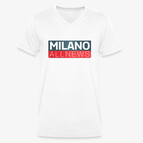 Milano AllNews Logo - T-shirt ecologica da uomo con scollo a V di Stanley & Stella