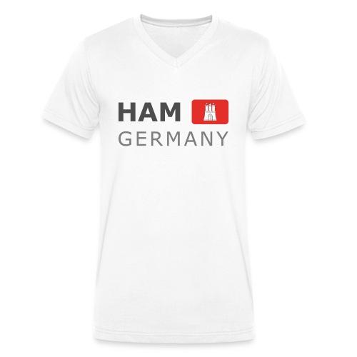 HAM GERMANY HHF dark-lettered 400 dpi - Men's Organic V-Neck T-Shirt by Stanley & Stella