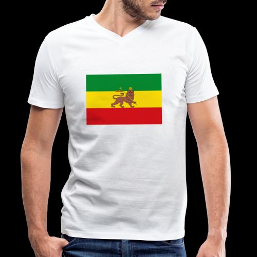 LION FLAG - Men's Organic V-Neck T-Shirt by Stanley & Stella