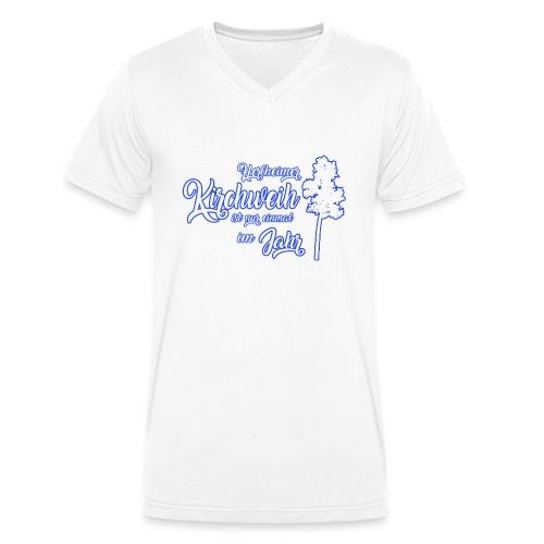 Kirchweih Shirt weiss Kopie - Männer Bio-T-Shirt mit V-Ausschnitt von Stanley & Stella