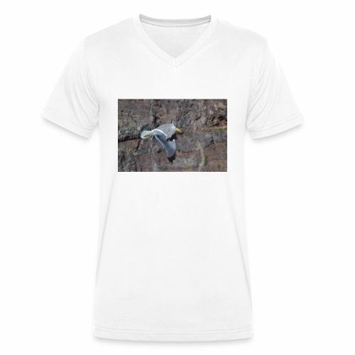Möwe - Männer Bio-T-Shirt mit V-Ausschnitt von Stanley & Stella