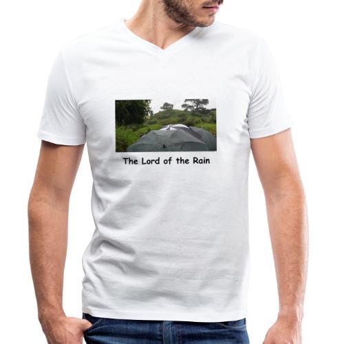 The Lord of the Rain - Neuseeland - Regenschirme - Männer Bio-T-Shirt mit V-Ausschnitt von Stanley & Stella