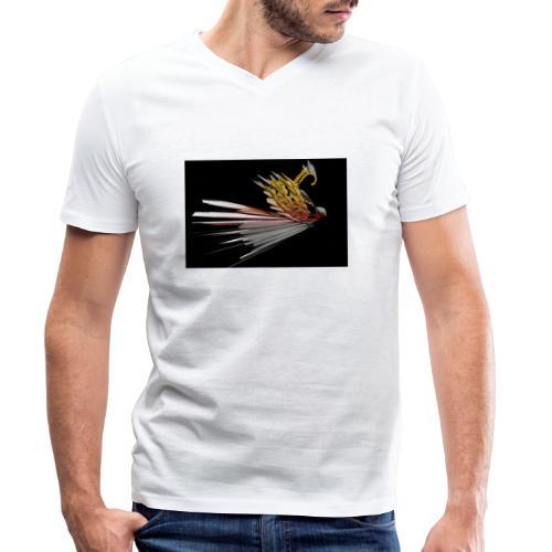 Abstract Bird - Men's Organic V-Neck T-Shirt by Stanley & Stella