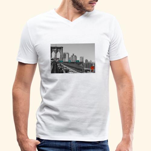 Brooklyn bridge - T-shirt ecologica da uomo con scollo a V di Stanley & Stella