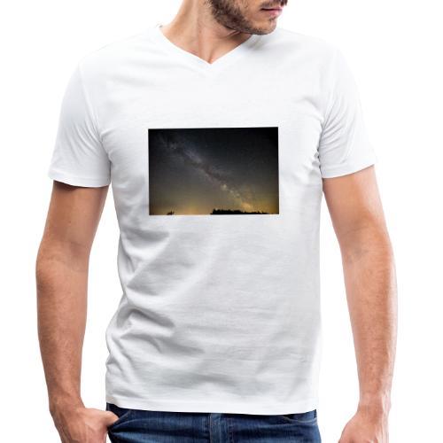 Milchstraße - Männer Bio-T-Shirt mit V-Ausschnitt von Stanley & Stella