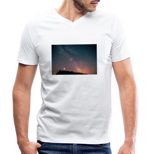 Milchstraße Fotografie Galaktisches Zentrum - Männer Bio-T-Shirt mit V-Ausschnitt von Stanley & Stella