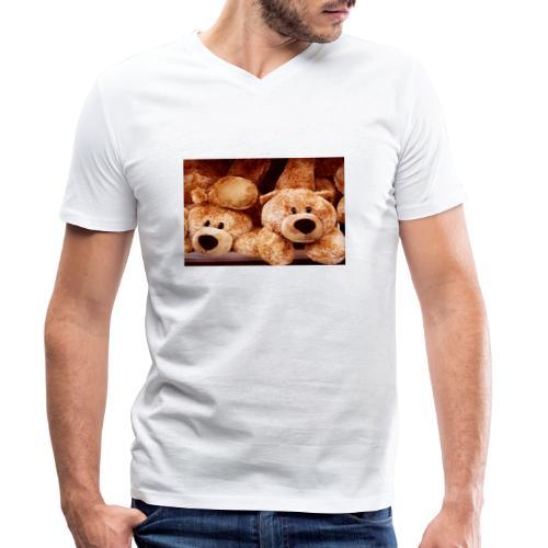 Glücksbären - Männer Bio-T-Shirt mit V-Ausschnitt von Stanley & Stella