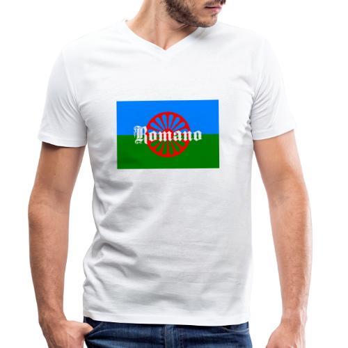 Flag of the Romanilenny people svg - Ekologisk T-shirt med V-ringning herr från Stanley & Stella