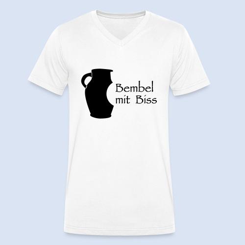 Bembel mit Biss - Männer Bio-T-Shirt mit V-Ausschnitt von Stanley & Stella