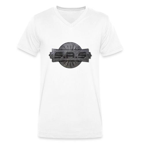metal background scratches surface 18408 3840x2400 - Mannen bio T-shirt met V-hals van Stanley & Stella