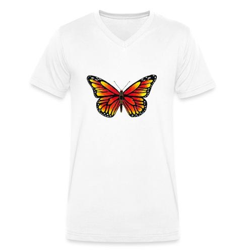 Sommerfugl - Økologisk Stanley & Stella T-shirt med V-udskæring til herrer