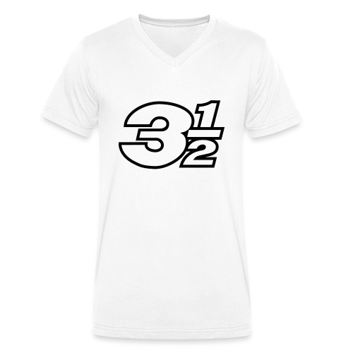 Three and a Half Logo - Men's Organic V-Neck T-Shirt by Stanley & Stella