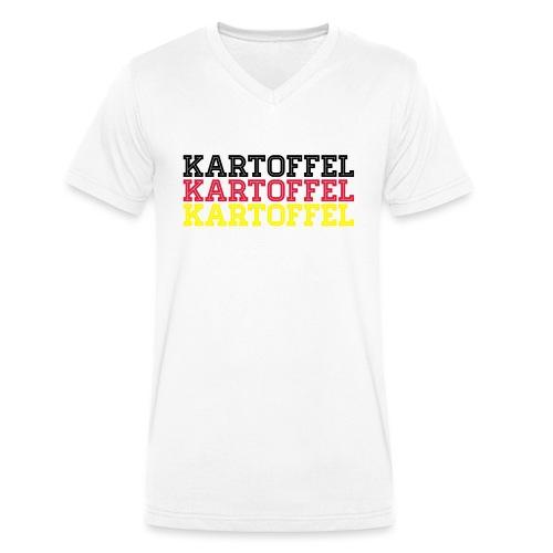 Deutschland Fußball Sport Fan Kartoffel - Männer Bio-T-Shirt mit V-Ausschnitt von Stanley & Stella
