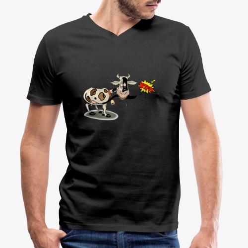 Vaquita - Camiseta ecológica hombre con cuello de pico de Stanley & Stella