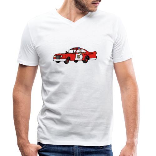 fire chief car - Männer Bio-T-Shirt mit V-Ausschnitt von Stanley & Stella