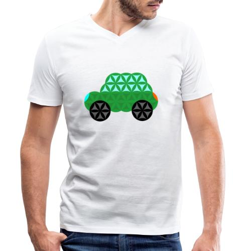 The Car Of Life - M01, Sacred Shapes, Green/363 - Men's Organic V-Neck T-Shirt by Stanley & Stella