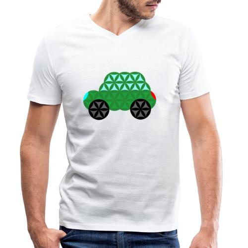 The Car Of Life - M02, Sacred Shapes, Green/363 - Men's Organic V-Neck T-Shirt by Stanley & Stella