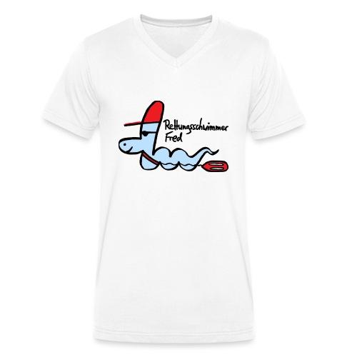 Rettungsschwimmer Fred - Männer Bio-T-Shirt mit V-Ausschnitt von Stanley & Stella