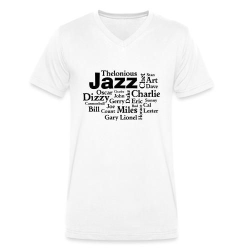 Jazz Greats - Männer Bio-T-Shirt mit V-Ausschnitt von Stanley & Stella