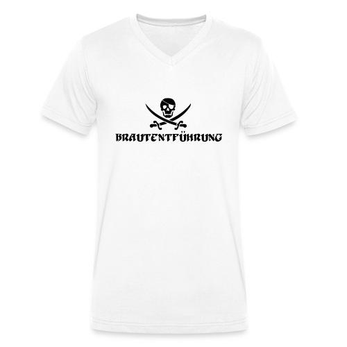 Brautentführung Piratenflagge Junggesellinnen - Männer Bio-T-Shirt mit V-Ausschnitt von Stanley & Stella