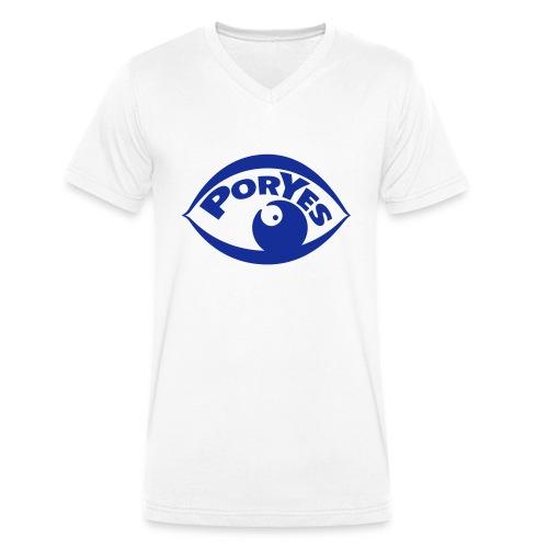 logo poryes lila - Männer Bio-T-Shirt mit V-Ausschnitt von Stanley & Stella