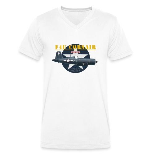 F4U Jeter VBF-83 - Men's Organic V-Neck T-Shirt by Stanley & Stella