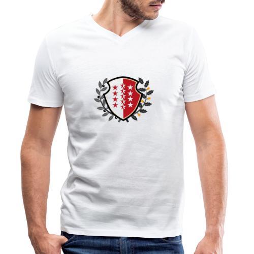 Valais - Wallis 1815 - Männer Bio-T-Shirt mit V-Ausschnitt von Stanley & Stella