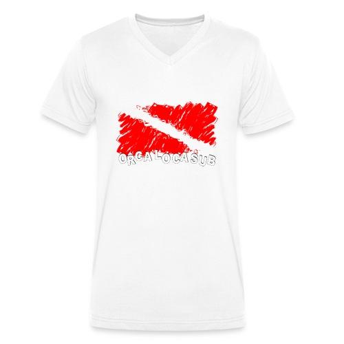 Bandiera Scuba - T-shirt ecologica da uomo con scollo a V di Stanley & Stella