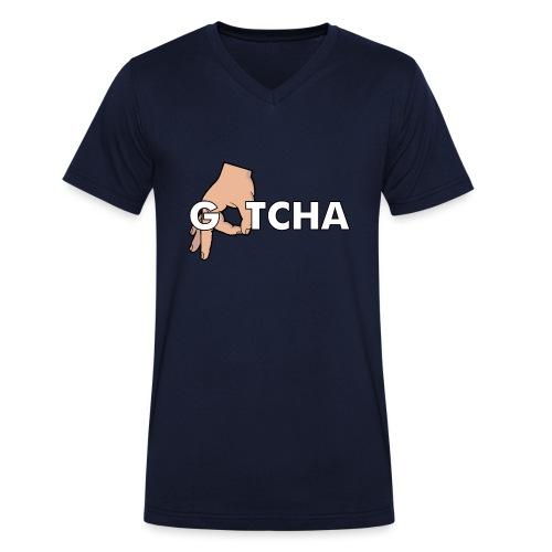 Gotcha Made You Look Funny Finger Circle Hand Game - Men's Organic V-Neck T-Shirt by Stanley & Stella