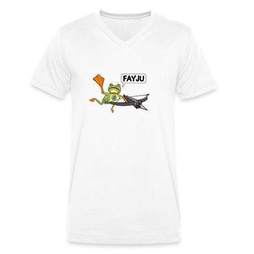 Amazing Frog Crossbow - Men's Organic V-Neck T-Shirt by Stanley & Stella