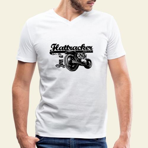 flattracker - Økologisk Stanley & Stella T-shirt med V-udskæring til herrer
