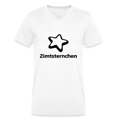 Zimtsternchen - Männer Bio-T-Shirt mit V-Ausschnitt von Stanley & Stella