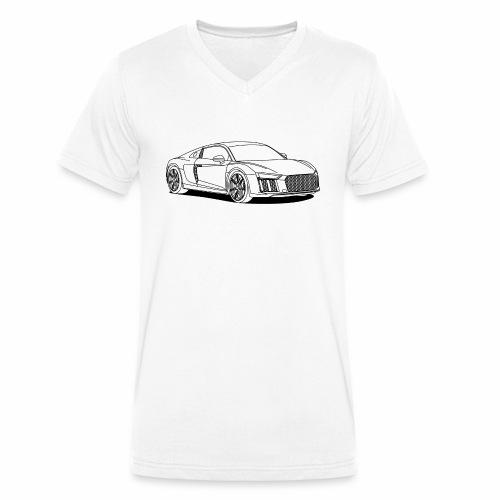 Super Car - Men's Organic V-Neck T-Shirt by Stanley & Stella