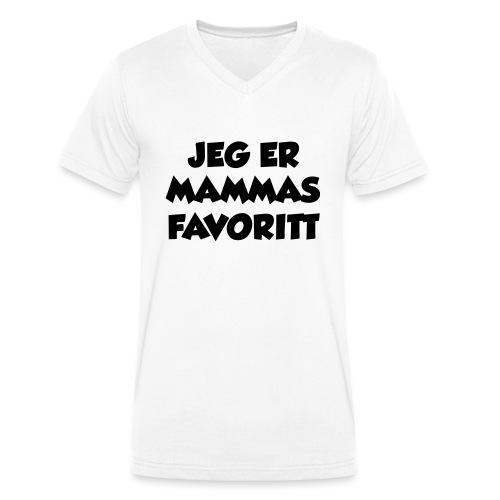 «Jeg er mammas favoritt» (fra Det norske plagg) - Økologisk T-skjorte med V-hals for menn fra Stanley & Stella