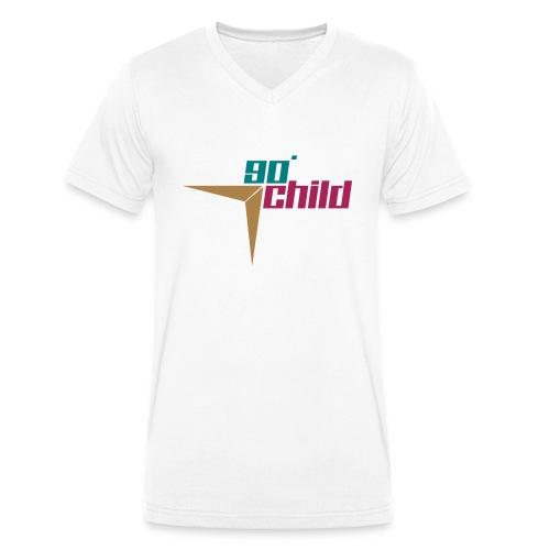 90er Kind - Männer Bio-T-Shirt mit V-Ausschnitt von Stanley & Stella
