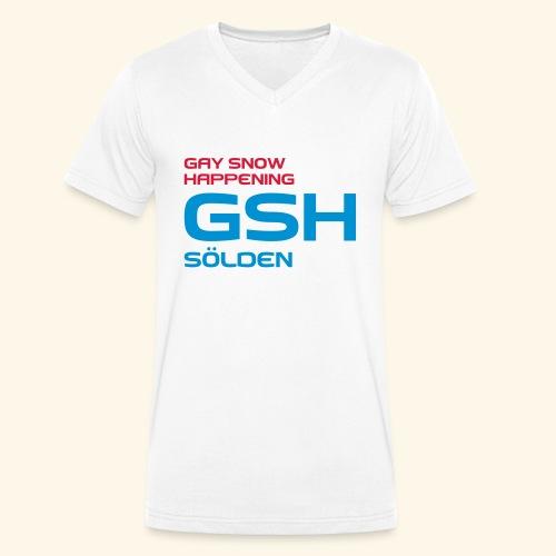 GSH_Logo_vector_hoch - Männer Bio-T-Shirt mit V-Ausschnitt von Stanley & Stella