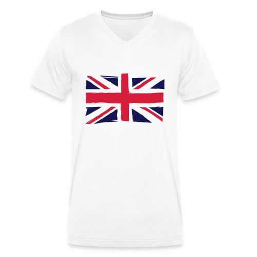 vlag engeland - Mannen bio T-shirt met V-hals van Stanley & Stella