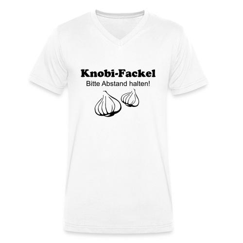 Knobifackel - Männer Bio-T-Shirt mit V-Ausschnitt von Stanley & Stella