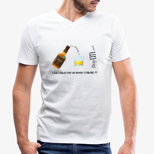 Un whisky ? Juste un doigt - T-shirt bio col V Stanley & Stella Homme